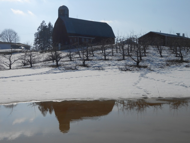 My family's barn. Taken last April, around Easter. Because, in Minnesota, winter never ends.