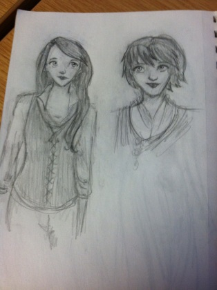 Left, an original character in a story I write in my head. Right, randomness.