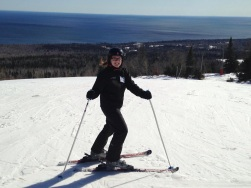 Skiing at Lutsen Mountains in Northern Minnesota