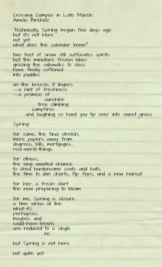 CrossingCampus Poem Text
