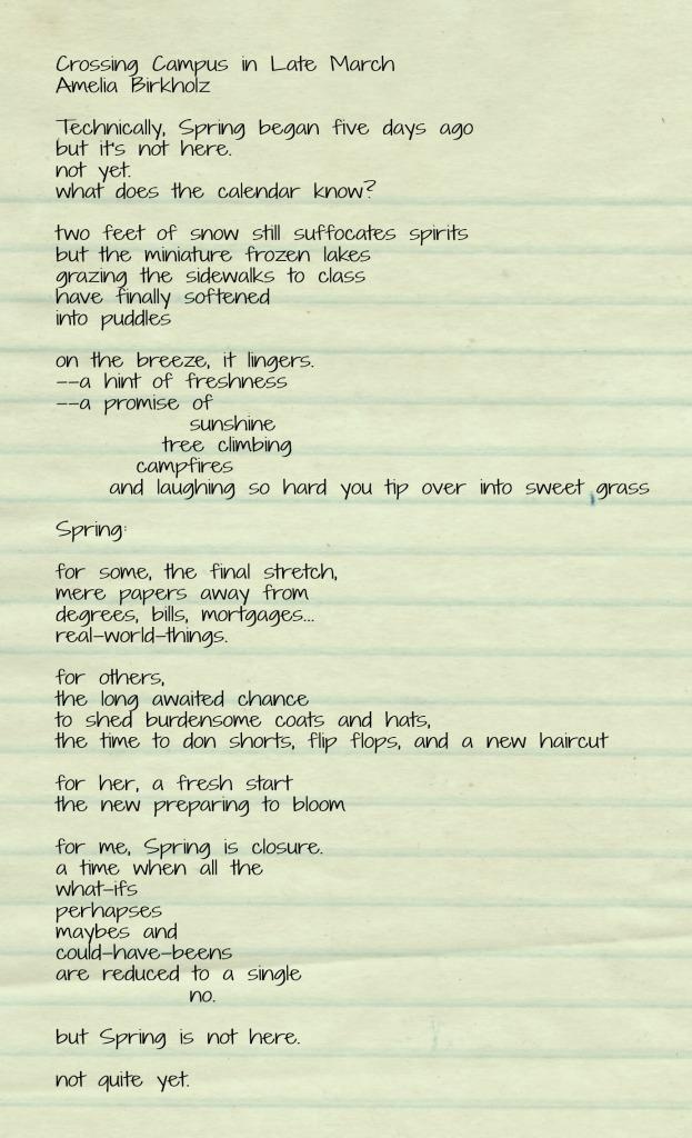 CrossingCampus Poem Text
