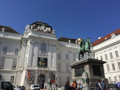Outside the Austrian National Library